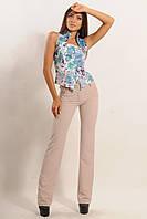 Классические узкие брюки из стрейч-костюмки 42-52 размер, фото 1