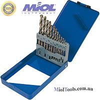 Набор сверл по металлу 19шт. Miol 22-095