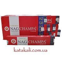 Благовония Golden Nag Champa натуральные аромапалочки пыльцевые