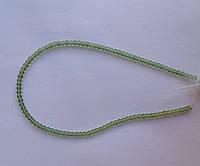 Бусина Шар цвет св. зеленый 3 мм