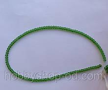 Намистина Куля колір зелений 3 мм