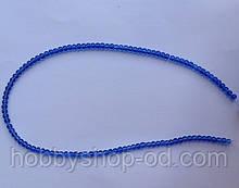 Намистина Куля колір синій 3 мм