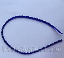 Намистина Куля колір синій кобальт 3 мм