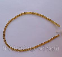 Намистина Куля колір янтарний 3 мм