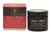 Apivita WINE Elixir крем с насыщенной текстурой против морщин, для повышения упругости кожи, с пчелиным воском и красным вином 50мл