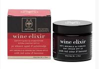 Apivita WINE Elixir дневной крем против морщин, для повышения упругости кожи SPF 15, с пчелиным воском и красным вином 50мл