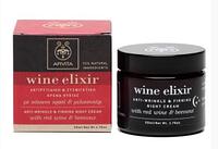 Apivita WINE Elixir ночной крем против морщин, для повышения упругости кожи, с пчелиным воском и красным вином 50мл