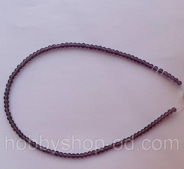 Бусина Шар цвет фиолетовый 3 мм