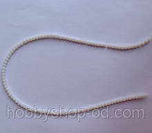 Намистина Куля колір білий 3 мм