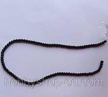 Намистина Куля колір чорний 3 мм