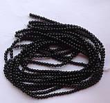 Намистина Куля колір чорний 3 мм, фото 3