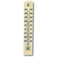 12100305 Термометр комнатный TFA, 180х30мм дерево/белый