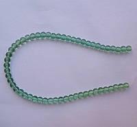 Бусина Шар цвет св. зеленый 6 мм