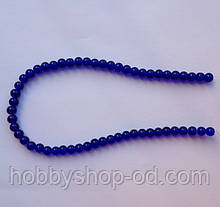 Бусина Шар цвет синий кобальт 6 мм