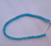 Бусина Шар цвет голубой нефрит 6 мм