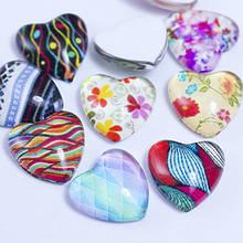 Кабошоны Стеклянные, Сердце, Цвет: Разноцветный, Размер: Длина 12мм, Ширина 12мм, Толщина 4мм, (УТ0028655)