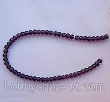 Бусина Шар цвет фиолетовый 6 мм