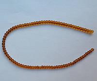 Бусина Шар цвет янтарный 4 мм