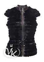 Меховый жилет + кожаная куртка 2 в 1, фото 1
