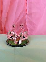 Статуэтка лебедь с кристаллом 6 см