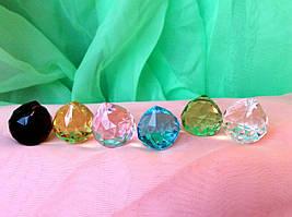 Кристалл (12 шт) подвесной 2 см 6 видов