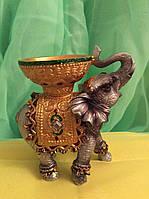 Статуэтка слон с чашей 10 см