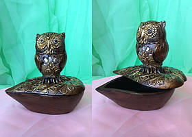Шкатулка сова-лепесток 12х12 см