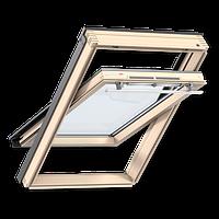 Мансардное окно  GZR 3050, ручка сверху, дерево