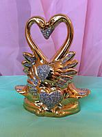 Статуэтка лебедь-сердце 12 см