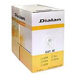 Сетевой кабель Dialan Utp Cat.5E 4PR Cca 0,48 мм Pvc, для внутренних работ, 305 м, фото 2