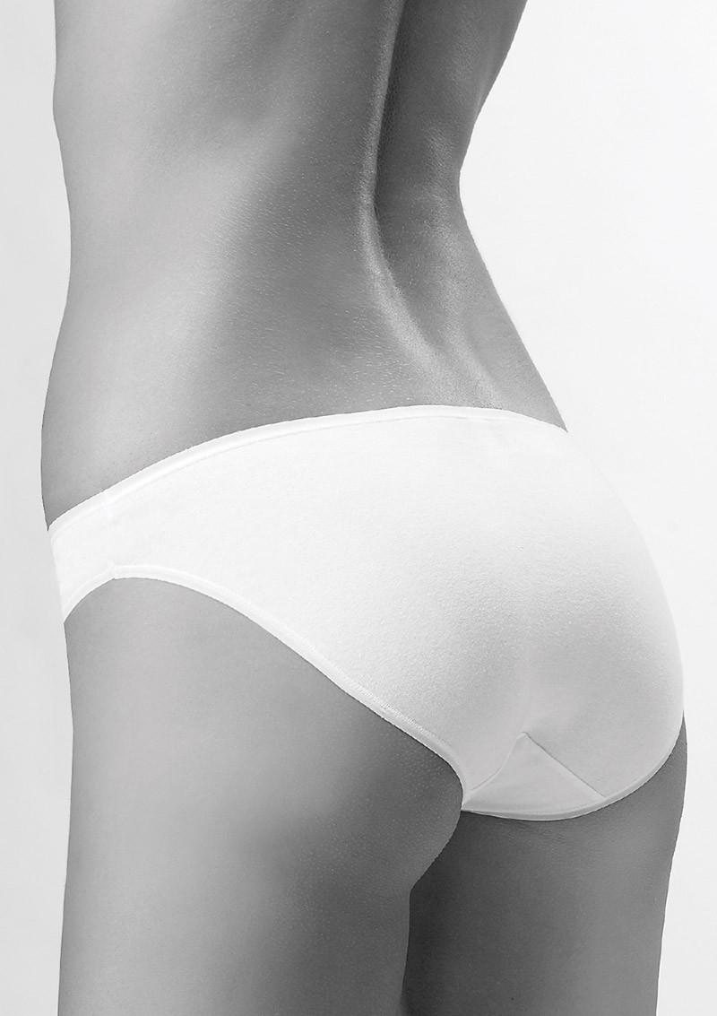 Трусы женские хлопковые бикини Key LPR 010 BI белые (Кей), Польша, 2шт