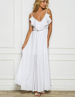 Летнее платье в пол | 2186 sk белый