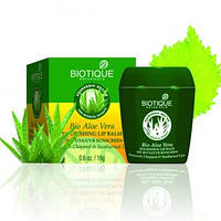 Biotique Bio Aloe Vera NOURISHING LIP BALM SPF 30 UVA/UVB SUNSCREEN Био Алоэ Вера Восстанавливающий увлажняющий Бальзам для губ 12 gm 12 gm