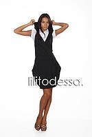 Платье с капюшоном черное, фото 1