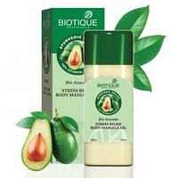 Biotique Bio Avocado Bio Cado STRESS RELIEF BODY MASSAGE OIL Био Авокадо Улучшающее клеточный обмен успокаивающее масло для тела для снятия стресса
