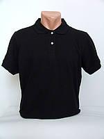 Черная мужская и подростковая футболка поло