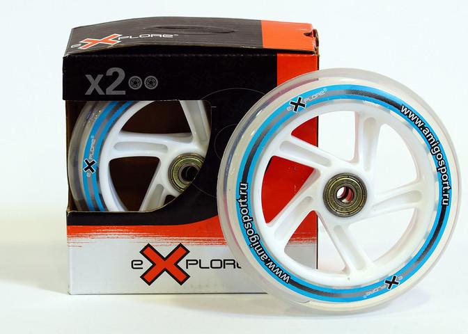 Комплект коліс для самокатів Explore з підшипниками розмір 125*24 мм
