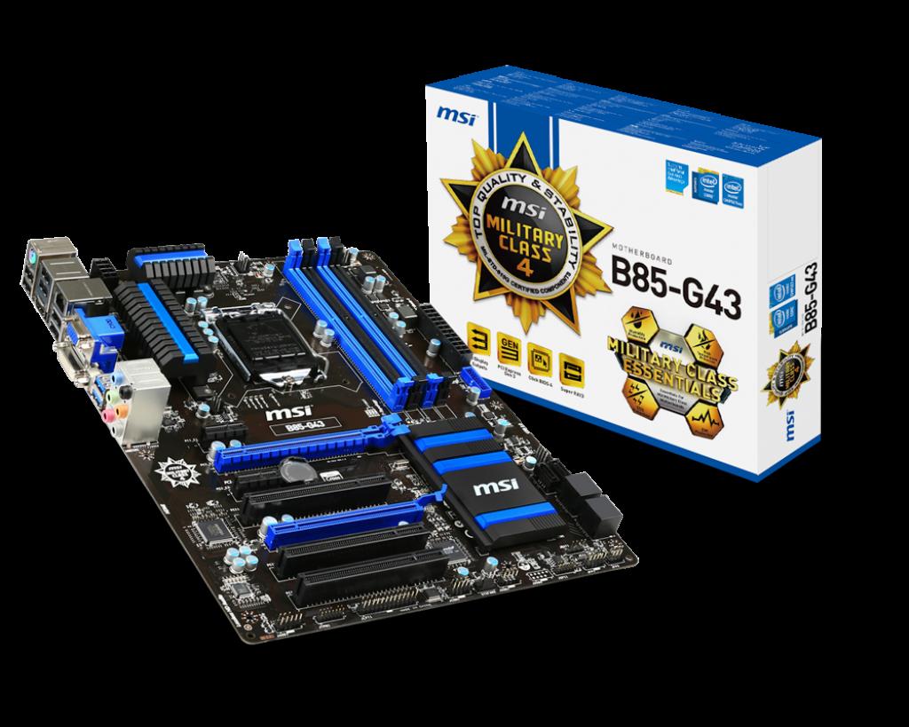 MSI B85-G43 (s1150, Intel B85, PCI-Ex16), фото 1
