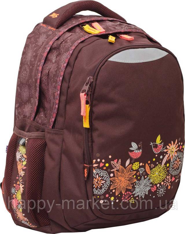 Рюкзак ранец подростковый 3 отделения школьный рюкзак для девочки подростка с ортопедической спинкой