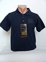 """Стильная темно синяя мужская футболка поло """"Eighty brands"""""""