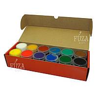Набор художественных гуашевых красок Сонет, 12 цветов по 40 мл