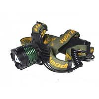 Налобный тактический фонарик Police BL-2189 99000W+UF 2 диода 2 АКБ, фонарь налобный с ультрафиолетом