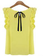 Легкая летняя желтая блузка (!!! НЕБОЛЬШОЕ ПЯТНО - ОКОЛО 3 ММ !!!)