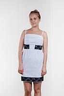 AMPL113-44 платье цвет белый