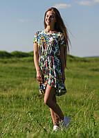 AMPLMS32-26 платье цвет желтый_принтованный
