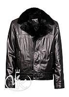 Кожаная куртка зимняя с мехом , фото 1