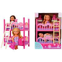 Кукольный набор Эви с двуспальной кроватью Simba 5733847