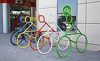 Металлическая парковка для велосипеда