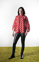 AMB134-187 блуза цвет красный+белый