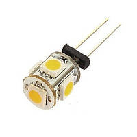 Светодиодная лампа цоколь G4 5-SMD 5050, 12В + обманка